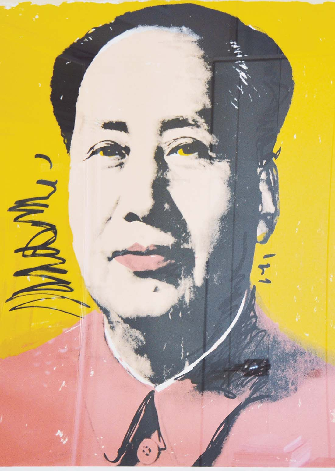 "ANDY WARHOL ""Mao from the Mao portfolio"" cartoncino bianco 91,44 x 91,44 cm 1972 Banca Mediolanum Padova"